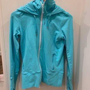 Lululemon Turquoise Hooded Jacket 6